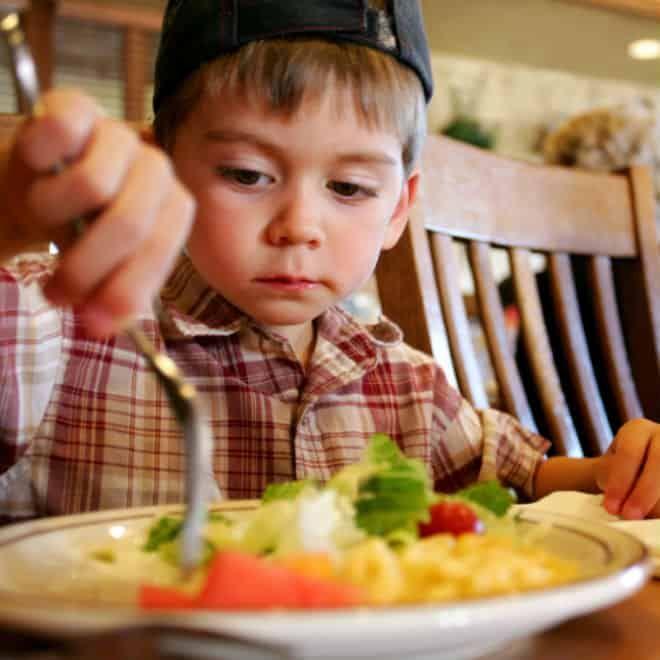 Вечеря и обяд за дете